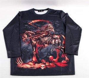 """T-shirt gothique Black Sugar motif """"Cavalier de l'apocalypse"""" , 29€."""