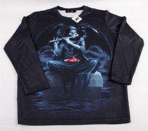 """T-shirt gothique Black Sugar motif """"Mort Ailée"""" , 29€."""