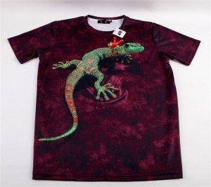"T-shirt gothique Black Sugar motif ""Peace Gecko"" , 29€."