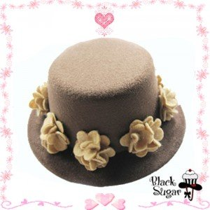 Chapeau bibi marron/café BLACK SUGAR, 6€.
