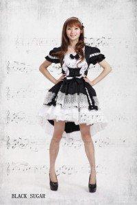 Robe lolita asymétrique (version sans les manches).